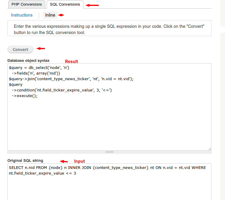 Convert SQL to Drupal 7 query object syntax   Vaerenbergh
